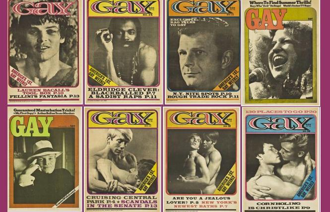 Early issues of GAY magazine