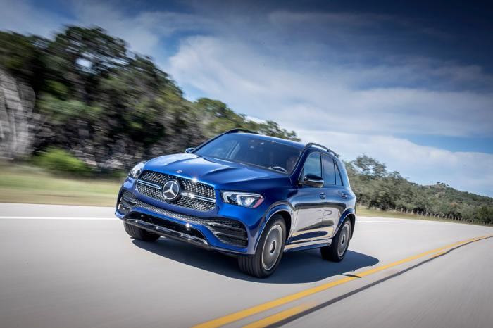 This photo provided by Mercedes-Benz USA, LLC shows the Mercedes-Benz GLE, a midsize luxury SUV that offers an awe-inspiring interior and exceptional technology features