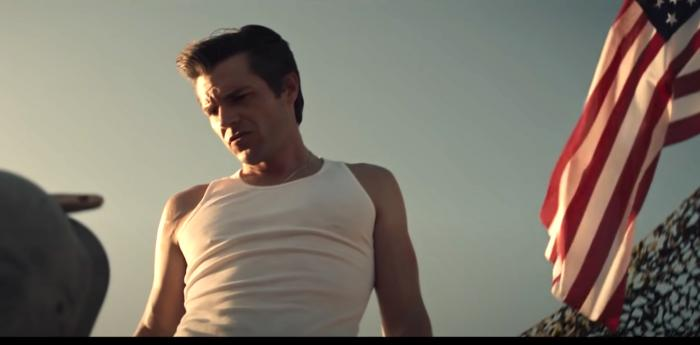 """Brandon Flowers in the Killers' music video for """"The Man."""""""