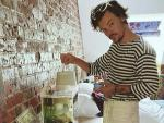 Harry Styles Feeds Fish, Has Tea with Super Fan's Father